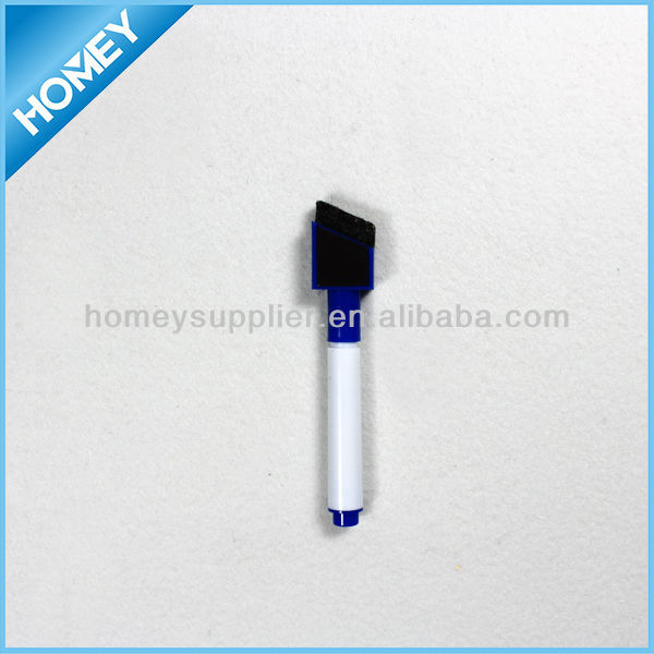 Fancy design mini white board pen with eraser and magnet
