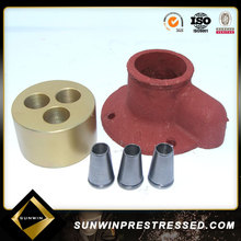 Steel Material PT high tensile pc strand anchor head & wedge