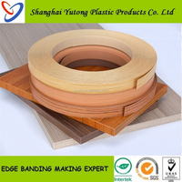 Fast color decorative furniture trim, Edge Banding tape, PVC Edge Strip