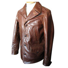 Special custom variety of styles biker brown leather bomber jacket mens garment maker sale