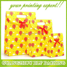(BLF-PB440) Cute little yellow paper bag red balloon paper bag supplier