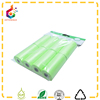 Green 8 pack hang tag dog waste bags customized pet trash bags