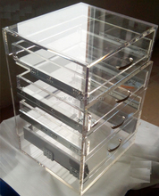 clear 3 tire acrylic display cabinets stand for retail
