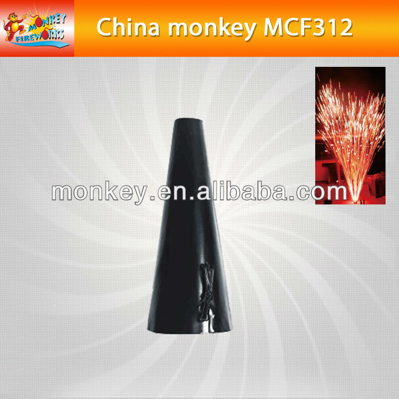 outdoor3seconds 12 meters colorl cold fountain smokeless no smell cold satge fountain for sale for stage use fireworks(MCF188)