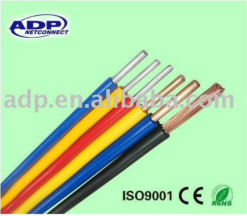pvc insulated solid bare copper 450/750V BV electric cable for for internal wiring of electronic and electrical equipment