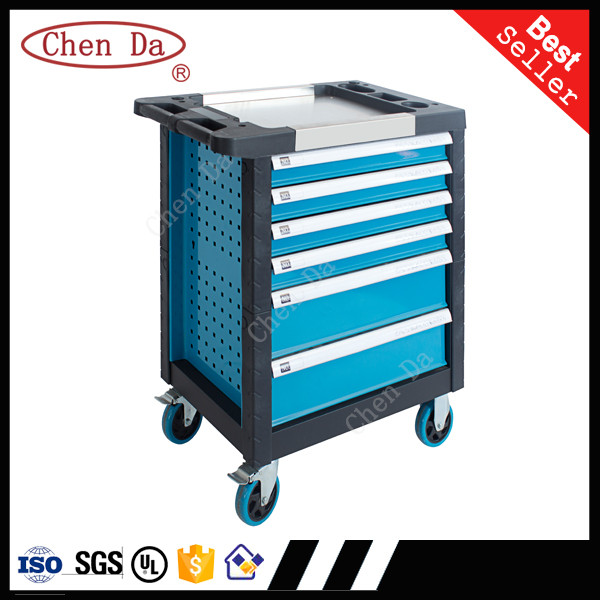 6 drawer tool cabinet tool trolley with professional hardware hand tools set