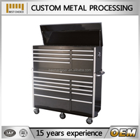 3 layer steel tool trolley, multifunction accessories tool trolley cart