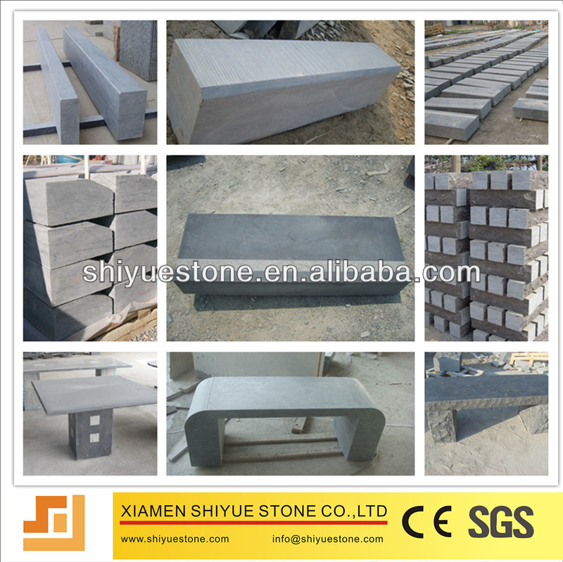 China Cheap Pavingstone Blue Raw Limestone