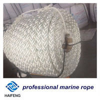 Polyester rope for marine