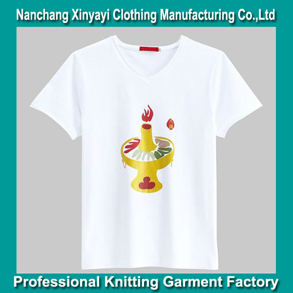 Men Custom White T Shirt Hot Pot Printing Design / Good Quality Export Clothes Manufacturer