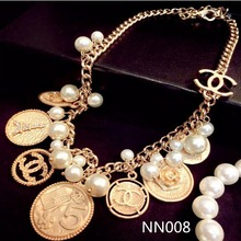 New Design Fashion Cheap Women Necklace gold Coin Jewelry For Sale