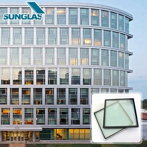 Top Selling exterior frameless curtain wall system glass prices large size pattern low-iron full glass curtain wall