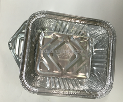 offer different capacities of 450ml 750ml STOCK PROFORMATION Microwave use alu foil rectangular food storage container w/lid