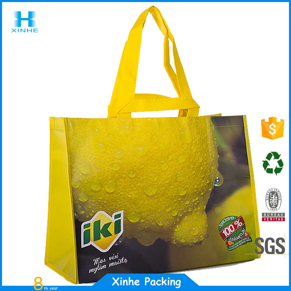 AZO free Christmas gift silk screen printing non woven bag