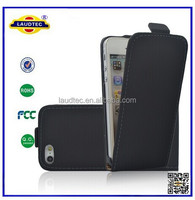 For iPhone 5 china supplier STOCK Flip Leather Cover case --- Laudtec