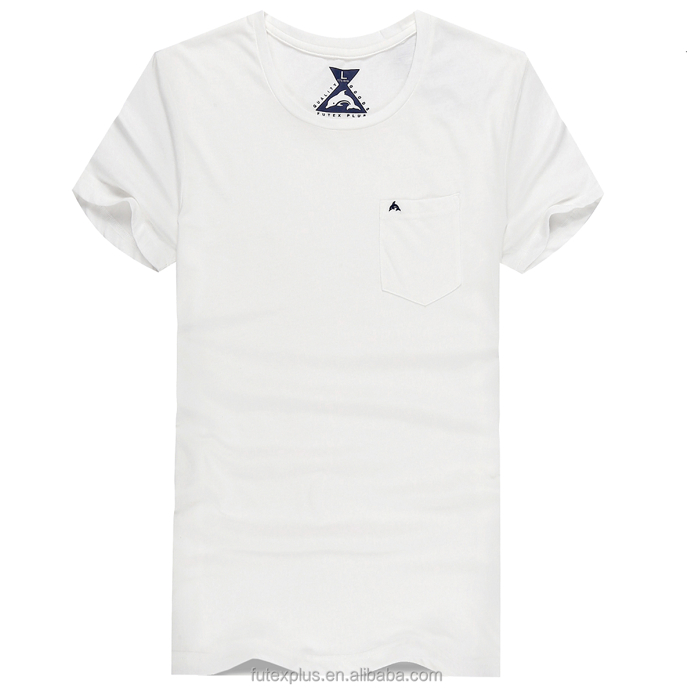 New Custom logo O neck embroidered CVC white t <strong>shirt</strong> for men