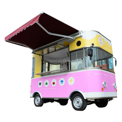 Self Food Ordering Mobile Food Cart Restaurant Room / Electric Food Cart Stall Shop / Mobile Food Cart