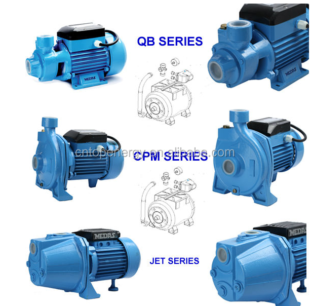 0.5HP-1.5HP domestic agricultural and industrial uses high pressure water pump QB60 /CPM /JET Water Pump