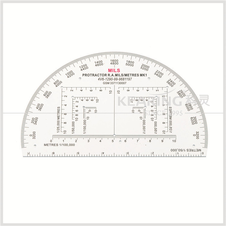 "Accurate 6"" RA Mils Map Reading Military Protractor - NATO APPROVED"