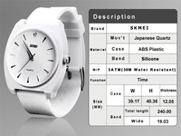Colorful Girls Ladies Silicon Strap Waterproof 30 Meters Surfing Wristwatch Reviews