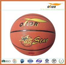 Size 6 PVC leather laminated indoor training exercise basketballs