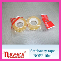 Yellowish Color Opp Stationery Tape with Bags for Wholesale Shops
