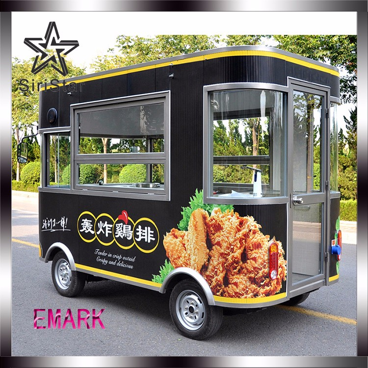 Siristar Fast Food Mobile Kitchen Trailer Fried Chicken Cart with CE/EEC/DOT Uranus-SRJJEQ