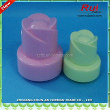 2016 newest plastic detergent screw cap 47mm 60mm/PP flower head cap for shampoo bottle