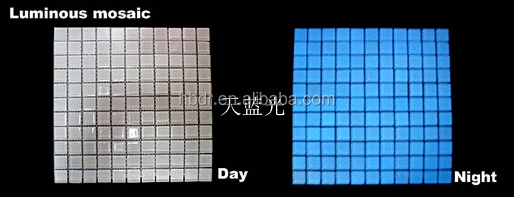 Glow Color Glow in the dark/Photoluminescent/luminofor mosaic tile