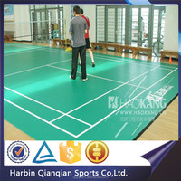 2015 China HAOKANG Brand sports best price badminton PVC flooring