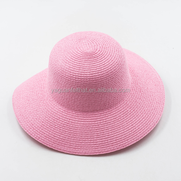 Paper straw bowler floppy hat. Natural straw lady floppy hats