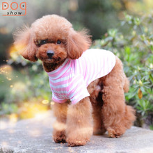 Factory wholesale four colors classic striped t-shirt dog clothes for summer day