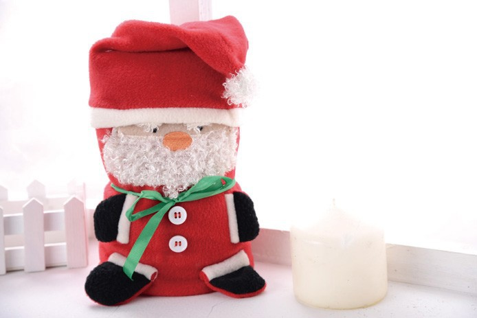 Polar fleece blanket Santa Claus blanket Novelty blanket for Christmas decoration