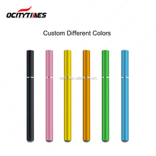 Shenzhen electronic cigarette Ocitytimes custom logo 200 puffs 500 puffs colorful metal tube empty disposable e cig