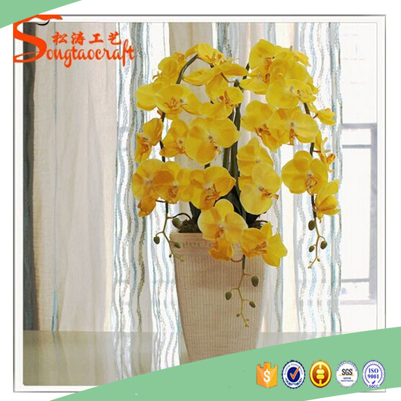 factory wholeasale cheap fake plastic artificial butterfly orchids red orchids decorative flowers purple dendrobium orchids