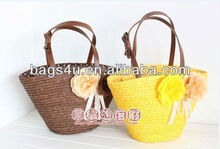 Fashionable Factory Directly Lady Vintage Designer Brand Handbags Wholesaler Women's Straw Bags Summer Beach 2013