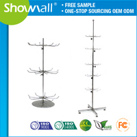 Stainless steel spinning cymbal display stand racks for grocery shop
