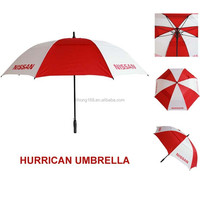 China supplier promotional hurricane air vent golf umbrella