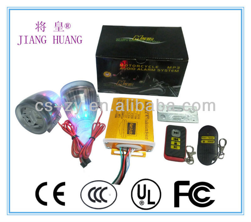 motorcycle alarm mp3/motorcycle fm radio/scooter stereo system