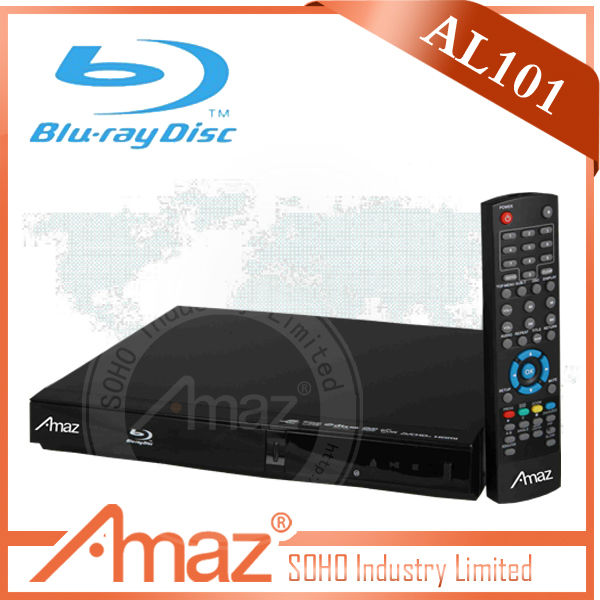 2014 Newest designed Full function 3D BLU RAY dvd player with cassette player