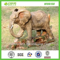 Yard Aminal Statues Decor Resin Elephant Garden