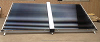 direct flow vacuum evacuated tube solar collector