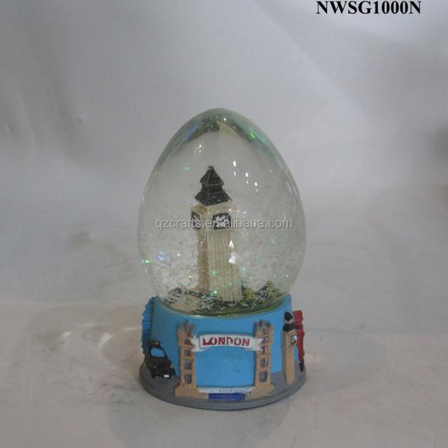 Custom Made Resin Tower Building London Snow Globe Souvenirs