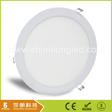 Triac dimmable built-in/recessed round led panel light with DALI dimmable driver