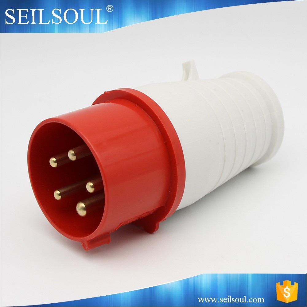Good quality industrial plug and socket 5 Pins Electrical Industrial Plug