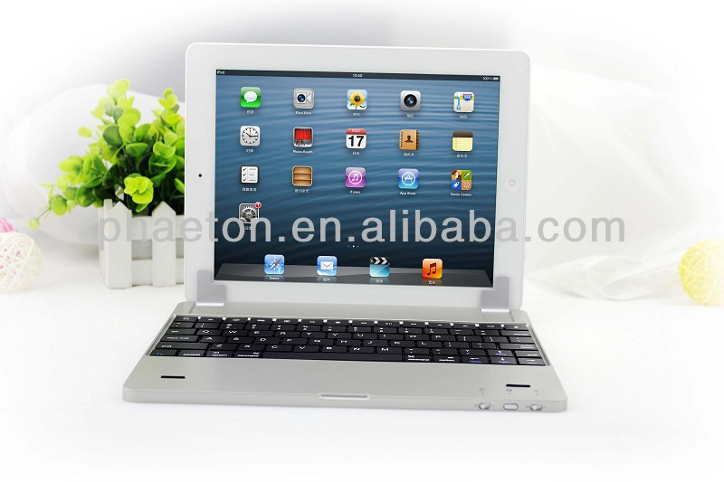2013 New Design aluminum magnetic Mobile wireless Bluetooth Keyboard for ipad 9.7 inch Tablet PC