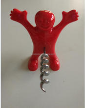 unique gift ideas stainless steel wine bottle opener with red human shape