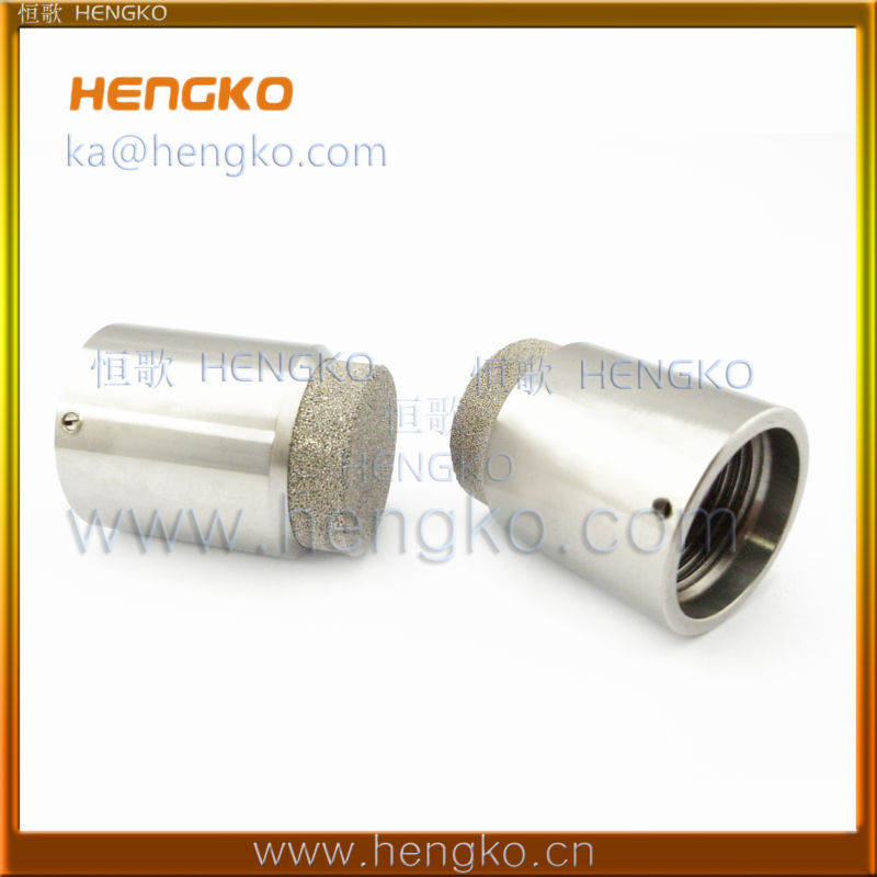 Powder sintered micropore muffler assembly