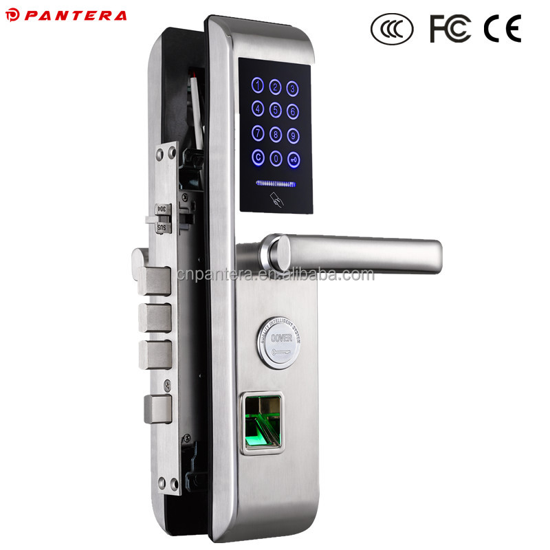 High Level Stainless Steel Door Lock Cover for Hotel Wood Door