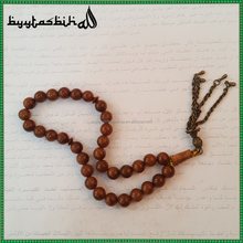 Wholesale Crystal Tasbeeh Unfinished 12mm Wood Prayer Beads And Charms With Tassel By Strands